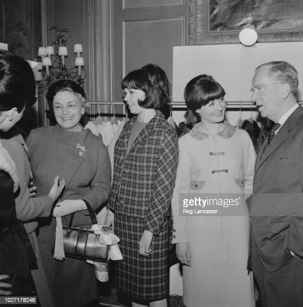 English diplomat and writer Pierson Dixon with his wife British diplomat and botanist Shirley Clifford Atchley and fashion models in Paris France...