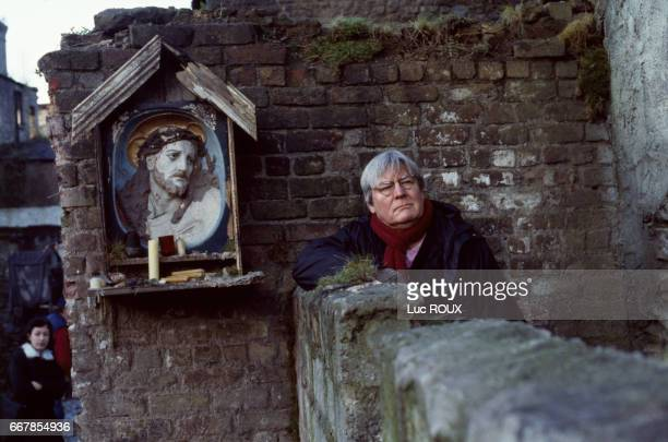 English director Alan Parker on the set of his film Angela's Ashes