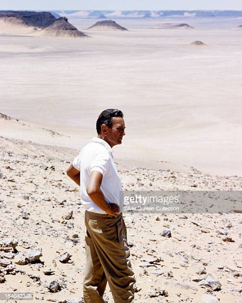 English director David Lean during location filming for 'Lawrence Of Arabia', 1962.