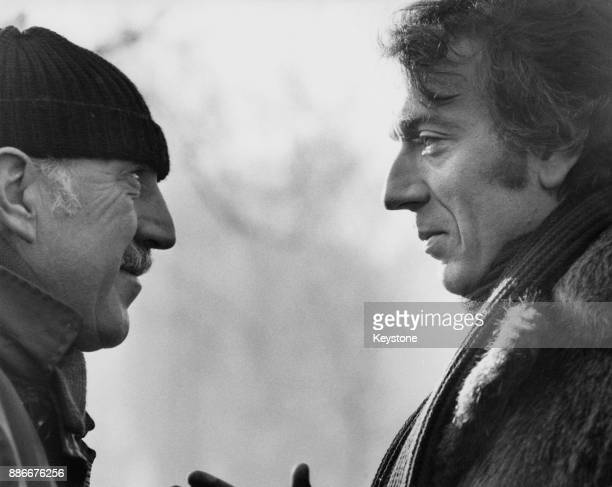 English director Lionel Jeffries poses with French actor JeanPierre Cassel on Hampstead Heath London during the filming of 'The Boy Who Could Make...