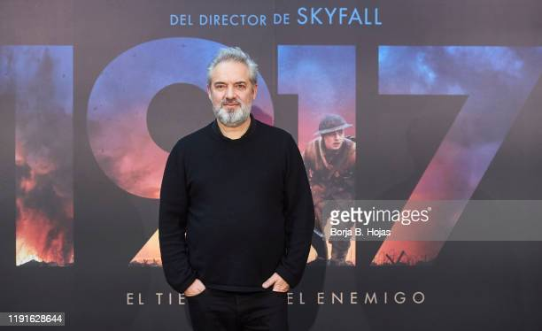 English director Sam Mendes attends photocall presentation of his last film '1917' on December 03 2019 in Madrid Spain