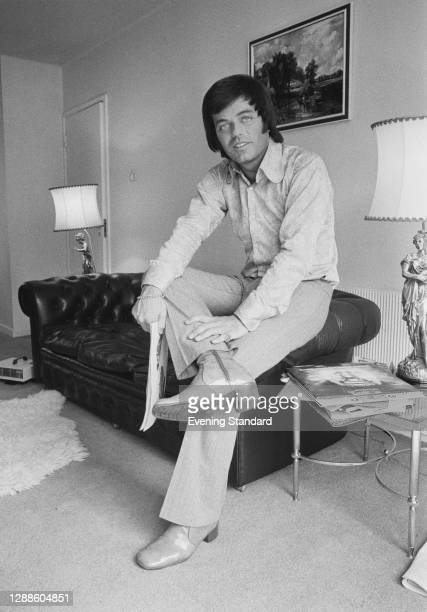 English disc jockey and singer Tony Blackburn, UK, May 1971.