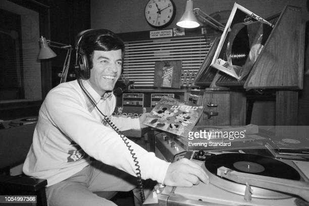 English disc jockey Tony Blackburn in a radio studio,UK, 13th November 1979.