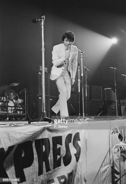 English disc jockey Tony Blackburn on stage at the Empire Pool during the 'New Musical Express Awards' Wembley London UK 11th April 1969