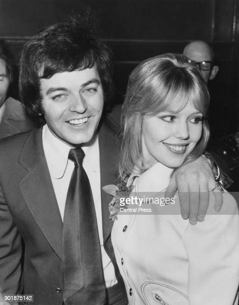 English disc jockey Tony Blackburn with his partner, actress Tessa Wyatt, 2nd March 1972.