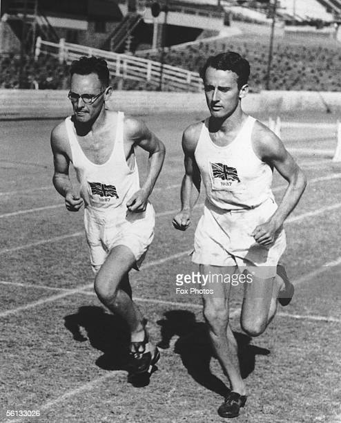 English distance runners B. C. Eeles and Peter Ward at the British Empire Games in Sydney, 1st February 1938.