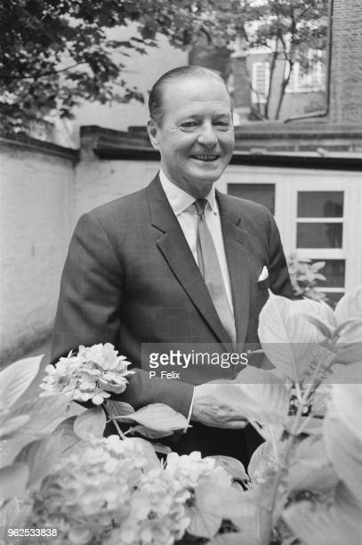 English dramatist and playwright Terence Rattigan pictured at a press call to promote the first run of his new play 'A Bequest to the Nation' at the...
