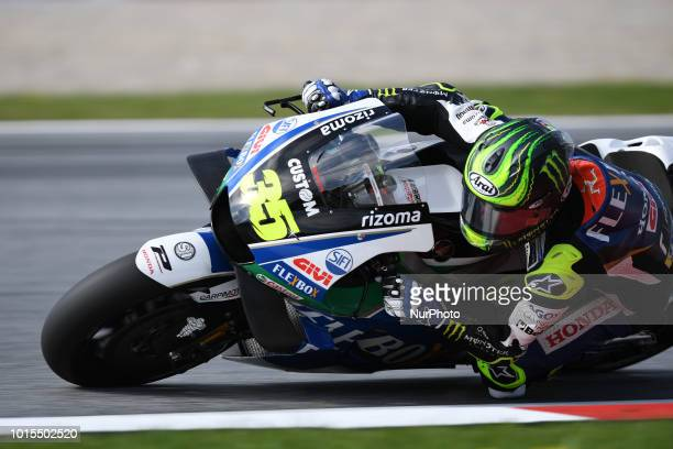 35 English driver Cal Crutchlow of Team LCR Honda race during warm up of Austrian MotoGP grand prix in Red Bull Ring in Spielberg on August 12 2018