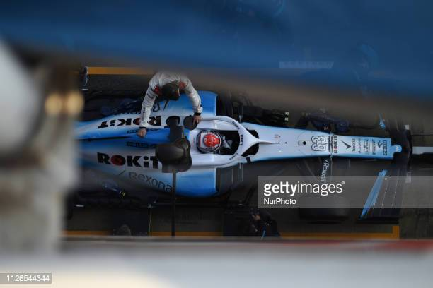 English driver George Russel of English team RoKit Williams Racing driving his singleseater during Barcelona winter test in Catalunya Circuit in...