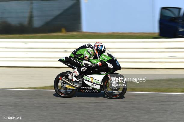 17 English driver John McPhee of Team CIP Green Power driving during warm up in Misano World Circuit Marco Simoncelli in Misano Adriatico for San...