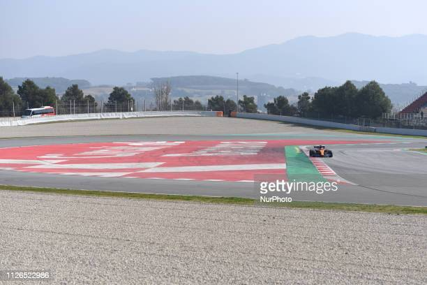 English driver Lando Norris of English team McLaren F1 Team driving his singleseater MCL34 during Barcelona winter test in Catalunya Circuit in...