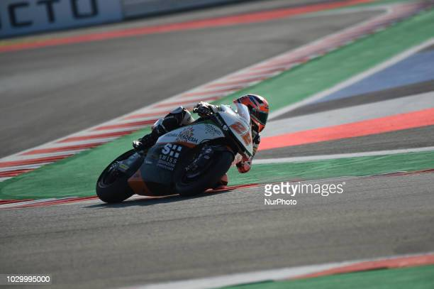 22 English driver Sam Lowes of Team Swiss Innovative Investors driving during warm up in Misano World Circuit Marco Simoncelli in Misano Adriatico...