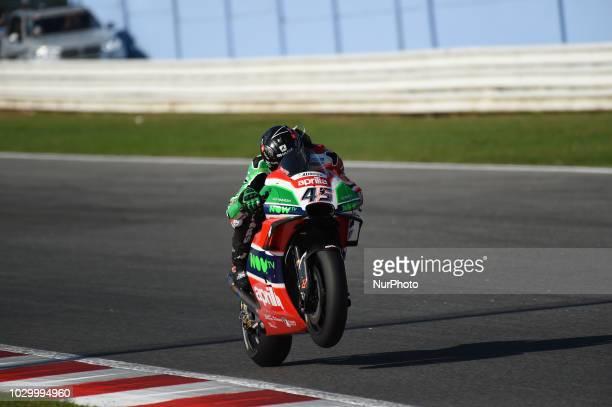 45 English driver Scott Redding of Team Aprilia Racing Team Gresini driving during warm up in Misano World Circuit Marco Simoncelli in Misano...