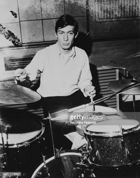 English drummer Charlie Watts of the Rolling Stones circa 1965