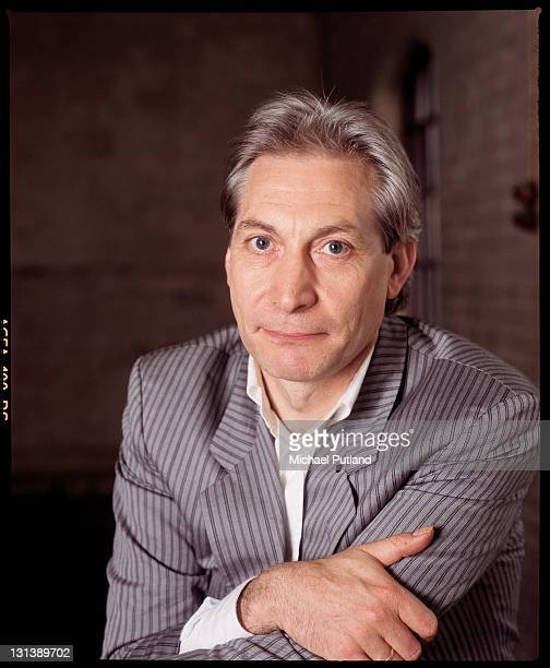 Charlie Watts of the Rolling Stones studio portrait London 1986