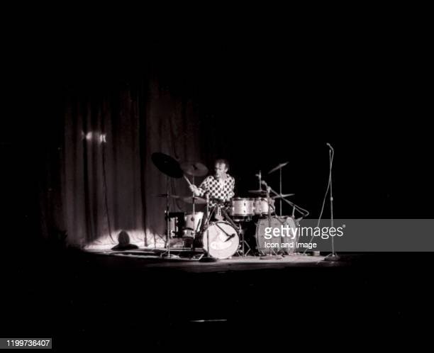 English drummer Ginger Baker performs with Cream at the Sam Houston Coliseum on March 31 in Houston TX