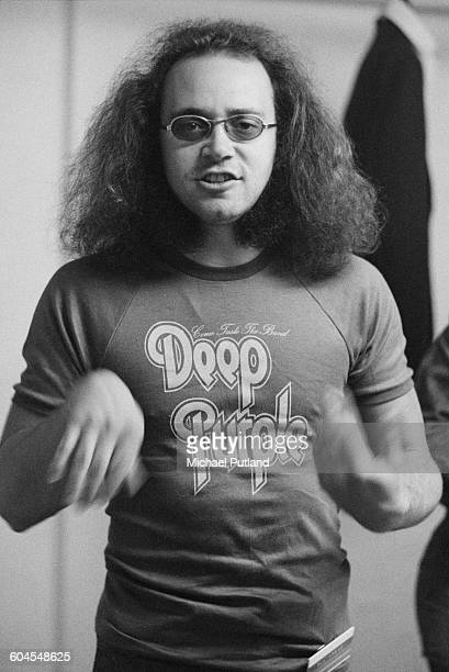 English drummer Ian Paice of rock group Deep Purple backstage at one of the band's two dates at the Empire Pool Wembley London 12th13th March 1976