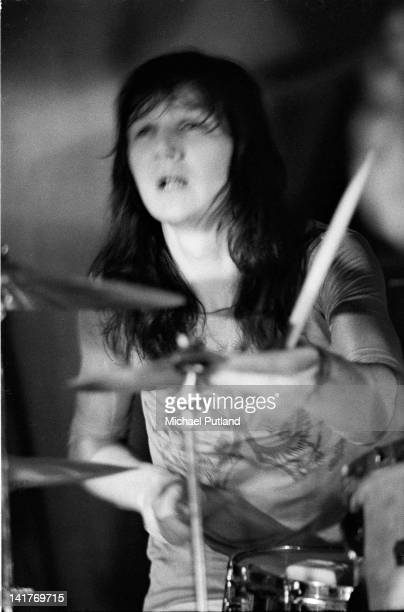 English drummer Ian Wallace of King Crimson performs on stage at the Lyceum London 19th May 1971