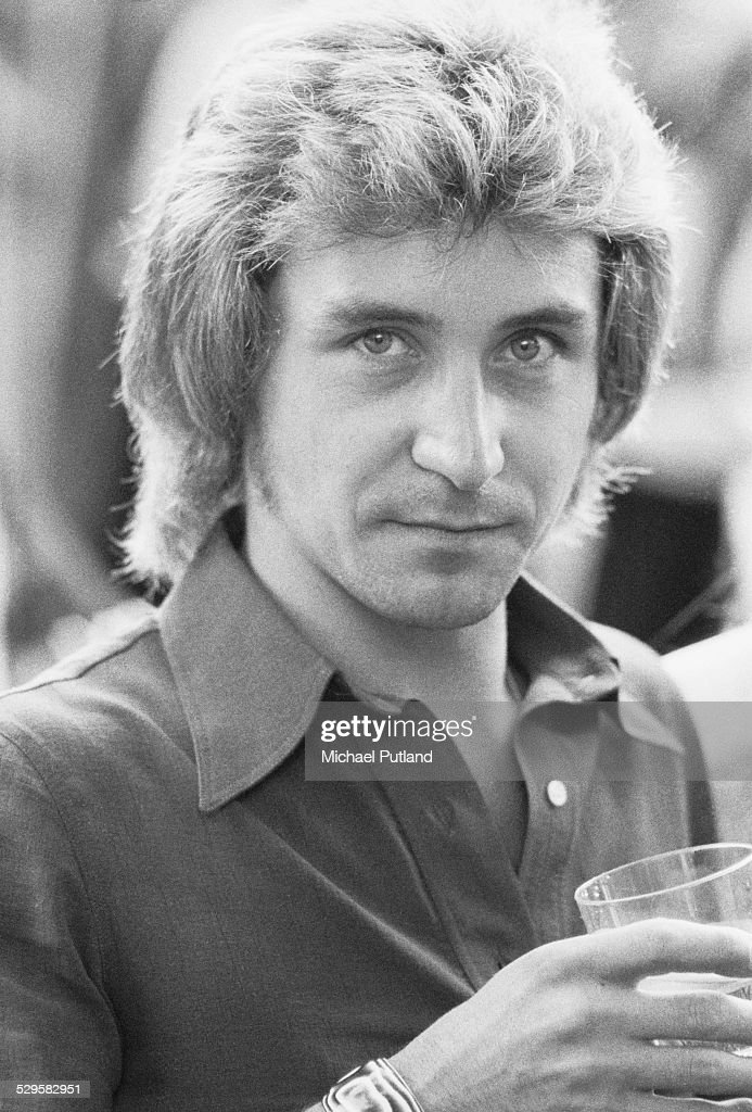 English drummer Kenney Jones, of English rock group Faces, at the Crystal Palace Garden Party all day concert event, Crystal Palace, London, 27th July 1974.