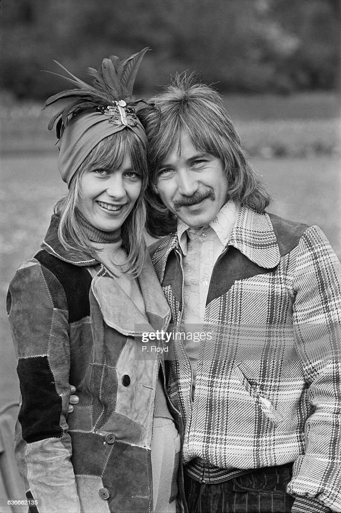 English drummer Kenney Jones of The Faces with his wife, UK, 24th April 1971.