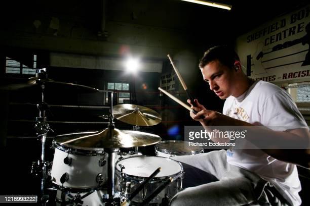 English drummer Matt Helders of the indie rock band Arctic Monkeys, United Kingdom, 2009.