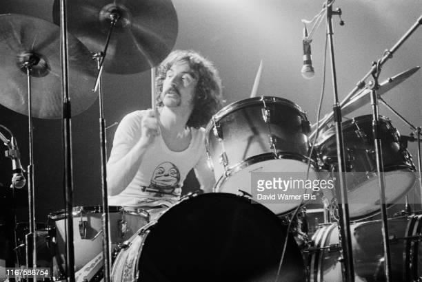 English drummer Nick Mason of rock band Pink Floyd, circa 1973.