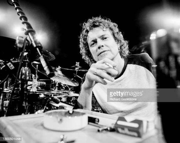 English drummer Rick Allen of hard rock band Def Leppard, portrait, 2004.