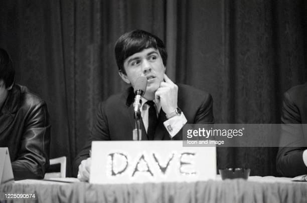 English drummer songwriter and leader and manager of the Dave Clark Five Dave Clark takes questions from students at Washington University in St...