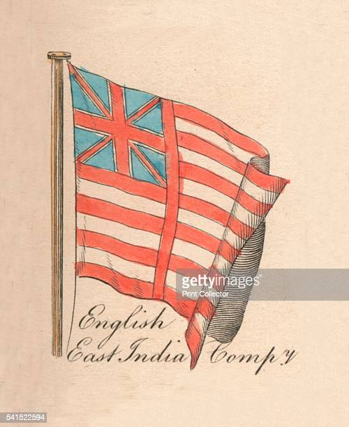 English East India Company' 1838 From A Display of the Naval Flags of All Nations Collected from the Best Authorities [Fisher Son Co London 1838]...