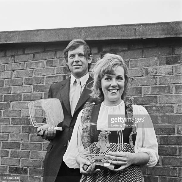 English economist and broadcaster Peter Jay and journalist and television presenter Esther Rantzen with their Royal Television Society Male and...
