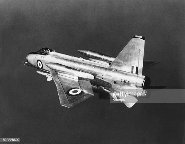 English Electric Lightning F6 supersonic jet fighter aircraft. Circa : August 1966