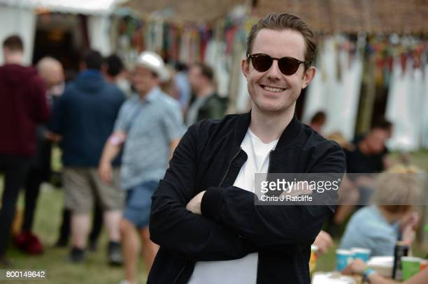 English electronic music producer and DJ Will Kennard of Chase Status attends Glastonbury Festival on June 23 2017 in Glastonbury England