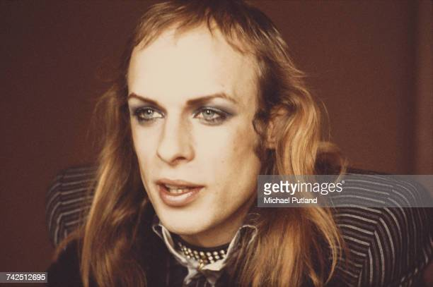 English electronic musician and composer Brian Eno of rock group Roxy Music pictured in London on 2nd March 1973