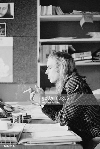 English electronic musician Brian Eno of rock group Roxy Music 2nd March 1973