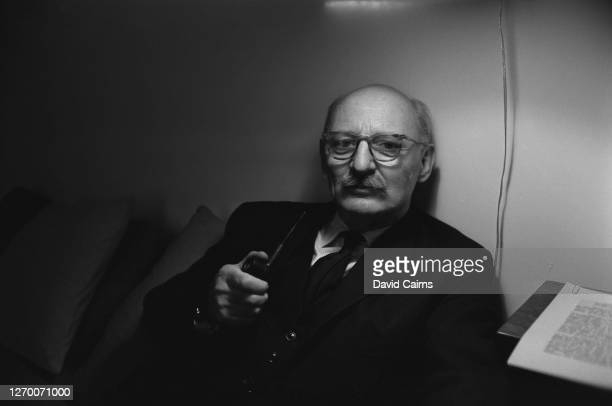English engineer Christopher Cockerell inventor of the hovercraft at his home UK 27th February 1966