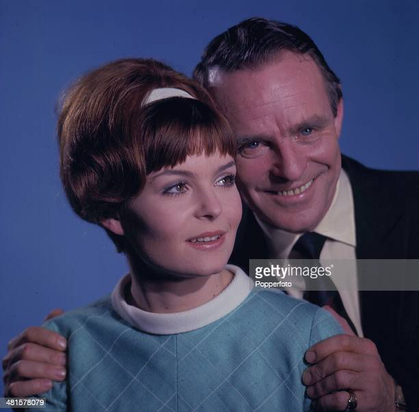 English entertainer Dickie Henderson pictured with actress Isla Blair in a scene from the television sitcom 'The Dickie Henderson Show' in 1968.
