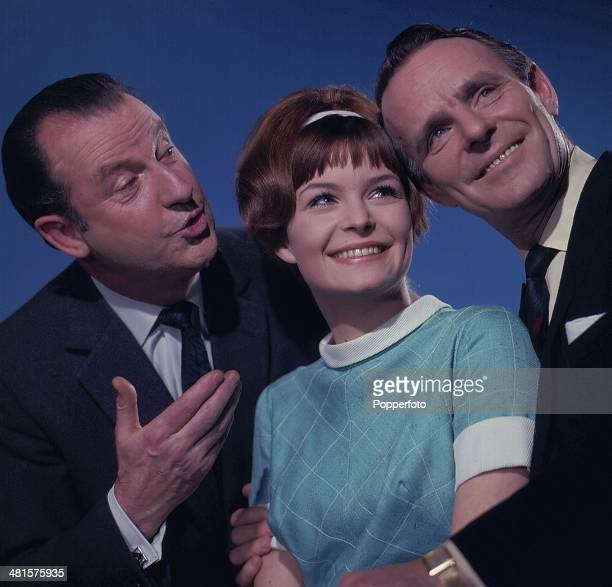 English entertainer Dickie Henderson right pictured with actor Lionel Murton on left and actress Isla Blair centre, in a scene from the television...