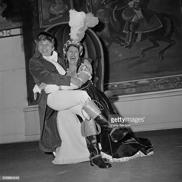 English entertainer Tommy Steele with English stage and screen actress Peggy Mount in 'She Stoops To Conquer' at The Old Vic theatre, London, 2nd...