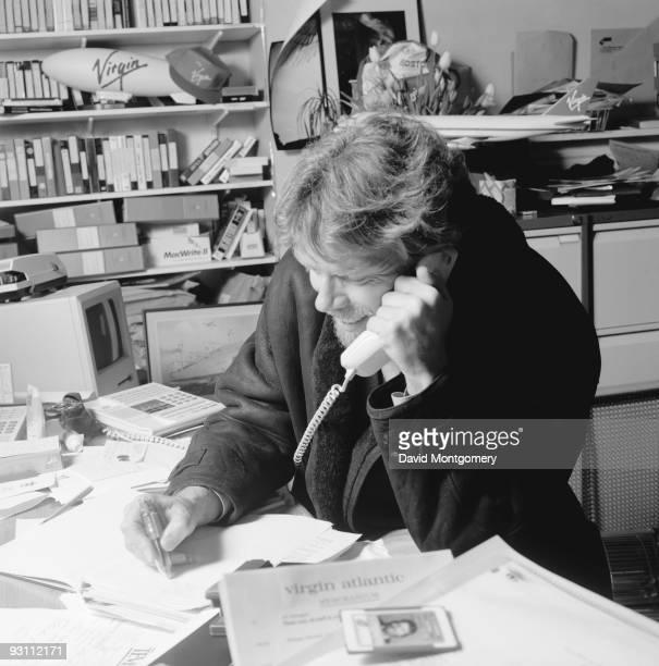 English entrepreneur Richard Branson at home 28th February 1993