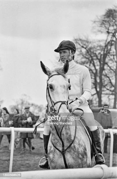 English equestrian Captain Mark Phillips at the Badminton Horse Trials, UK, April 1973.