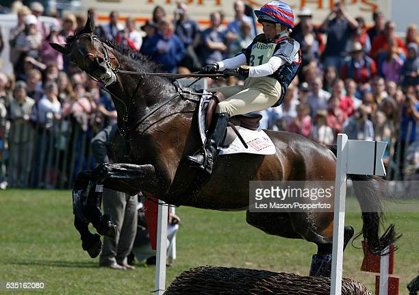 English equestrian Louise Skelton competes on Partly Pickled during the Cross Country Test at The Lake Complex at the 2007 Mitsubishi Motors...