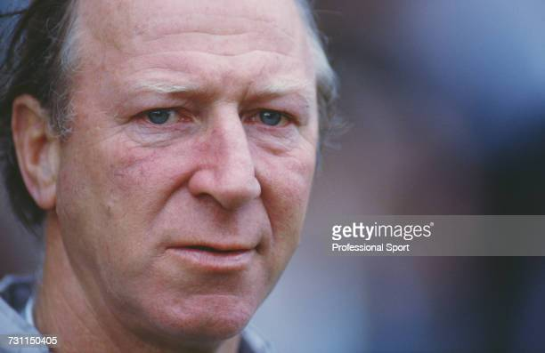 English ex footballer and manager of the Republic of Ireland team Jack Charlton pictured during the UEFA European Championship qualifying match...