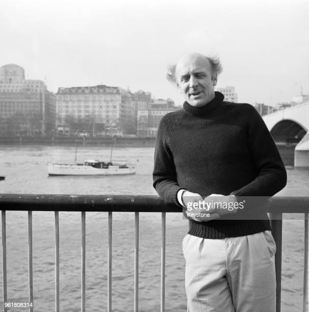 English explorer Anthony Smith poses near Queen Elizabeth Hall on the River Thames in London during a press conference to announce the planned...