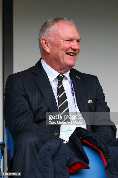 English FA chairman and FIFA vice-president Greg Clarke looks on ahead of the 2019 FIFA Women's World Cup France group D match between England and...