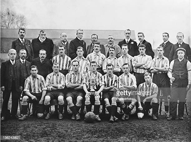 English FA Cup winners Sheffield Wednesday 1907 The players are Tom Brittleton Bill Layton Jack Lyall Harry Davis Jock Malloch Harry Burton and...