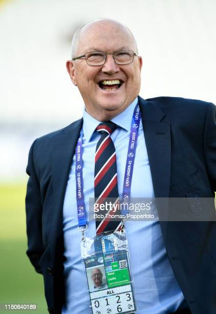 English FA technical director Leslie Reed before the 2019 UEFA U21 Championship Group C match between England and France at Dino Manuzzi Stadium on...