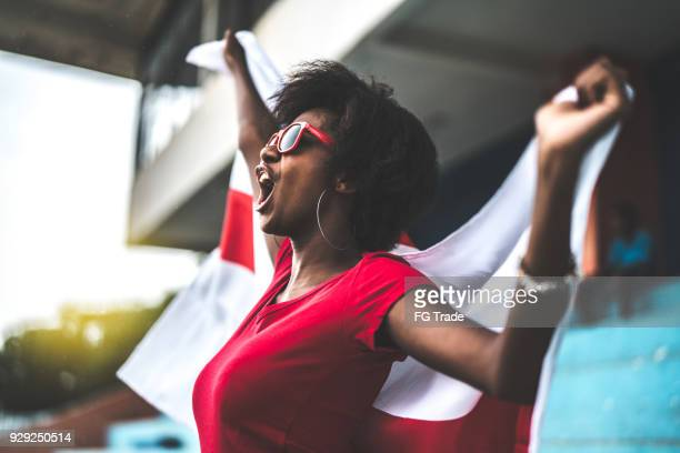 english fan watching a soccer game - fan enthusiast stock photos and pictures