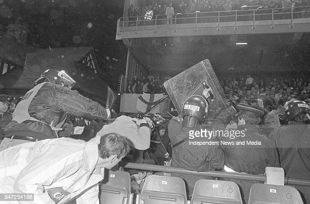 English fans riot at the Ireland v England at Landsdowne Road. Following the Irish goal a riot erupted and the game was abandoned. Picture David...