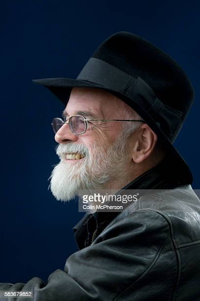 English fantasy science fiction and children's author Terry Pratchett pictured at the Edinburgh International Book Festival where he talked about his...