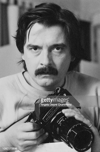 English fashion and portrait photographer David Bailey at Vogue's photo studios which were closing down Hanover Square London UK 17th June 19675
